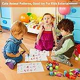 TedGem Stempel Kinder, Kinder Briefmarken, Stempel für Kinder Niedliche Spielzeugstempel aus Plastik Rich in Muster, EIN Gutes Spielzeug für Kinder zum Unterhalten (26 PCS) hergestellt von YiSen Direct