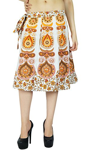 Floral impreso algodón mágico falda del abrigo del tamaño extra grande cabestro vestido sarong