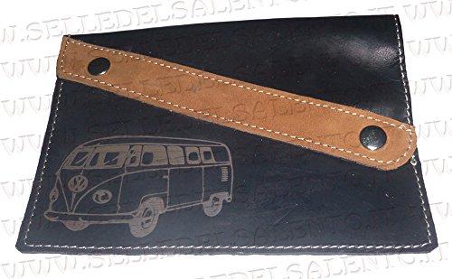 Portadocumentos, de piel auténtica, para Bus Volkswagen VW T1