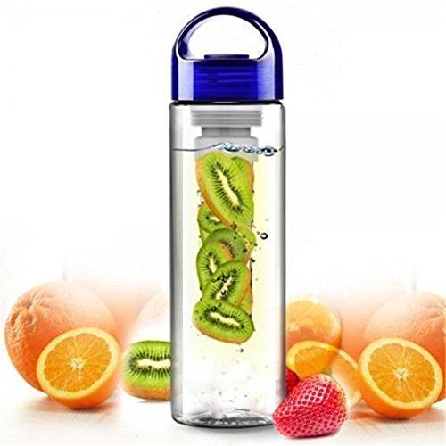 Sport-Trinkflasche, 800 ml, mit Früchte-Ei für außen (verschiedene Farben erhältlich) frei von BPA frei, SGREEN Depression Glass Cup