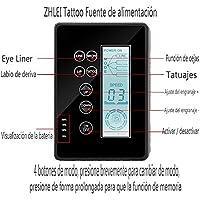 ZHLEI Potencia Móvil de La Máquina de Tatuaje Material de PVC Pantalla LCD Estabilidad de Voltaje Poder Tatuaje Multifuncional,Black