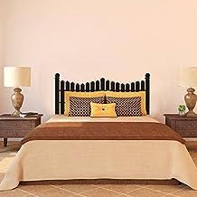 Valla cabecero de pared para cama vinilo adhesivo decorativo para pared (negro, reina) por mairgwall