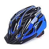 Ranjaner Fahrrad Helm Mountainbike Road Helm Sicherheit Schutz integrierte Formen Atmungsaktiv Fahrradhelm für Mann Frau, Blau/Schwarz