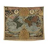 Die besten Homes Vorhänge - GSJJ Weltkarte Tapisserie Wandteppich Mandala Tabelle Vorhang W Bewertungen