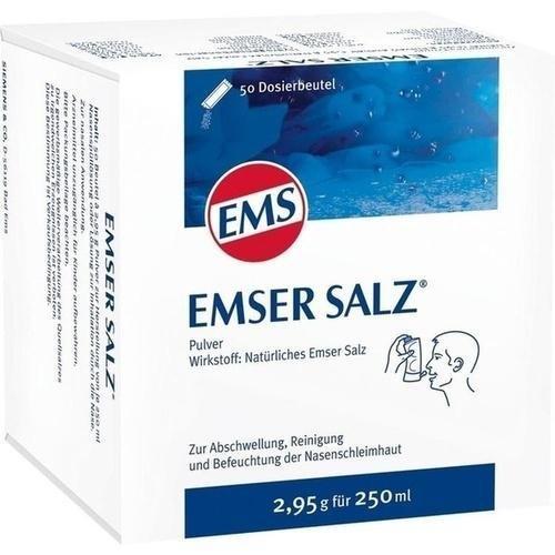 Emser Salz zur Verwendung mit der Emser Nasendusche - Bei Erkältung als Alternative zu Nasenspray - 50 x 2,95 g Beutel