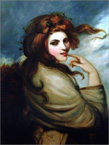 Posterlounge Acrylglasbild 100 x 130 cm: Emma Hamilton von George Romney/Bridgeman Images - Wandbild, Acryl Glasbild, Druck auf Acryl Glas Bild