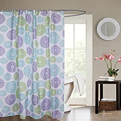 Linenwalas Pastel Design Water Repellent Bathroom Shower Curtain