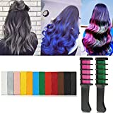 Supmaker Hair Chalk Combs Temporary Hair Dye Hair Colour Brush for Adults Kids (Pack of 12)