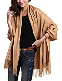 NOVAWO Extra Large Cashmere and Wool Blend Scarf Shawl Wrap for Men Women