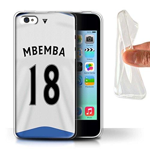 Offiziell Newcastle United FC Hülle / Gel TPU Case für Apple iPhone 5C / Pack 29pcs Muster / NUFC Trikot Home 15/16 Kollektion Mbemba