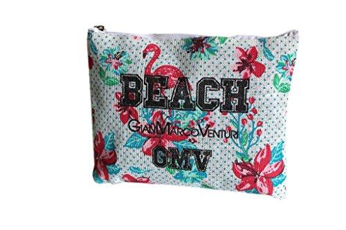 Borsetta mare sottobraccio Gian Marco Venturi l.fiori moda mare 43424 bianco