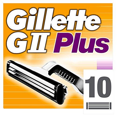 Gillette GII Plus Klingen, 10 Stück