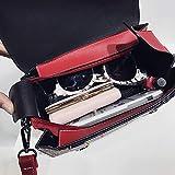 HKANG® Retro Gitter Handtaschen Mode Schultertaschen Freizeit Umhängetaschen Boston Tasche,Red