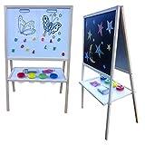 Standkindertafel 109x65 Magnettafel Kindertafel Standtafel Schultafel Stehtafel (natur)