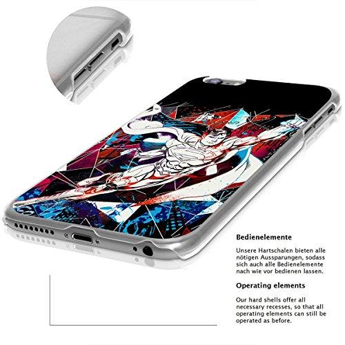 finoo | iPhone 8 Plus Handy-Tasche Schutzhülle | ultra leichte transparente Handyhülle in harter Ausführung | kratzfeste stylische Hard Schale mit Motiv Cover Case |Superman dad black Superman comic render black