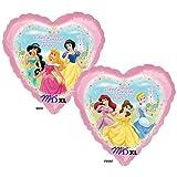"Ballon aluminium Anniversaire Coeur ""Happy Birthday"" Disney Princess- 46cm"