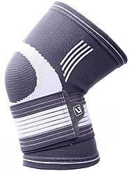 Liveup SPORTS Kompression Kniebandage mit verstellbaren Trägern Elastic Bandage für Arthritis Gelenkschmerzen und Verletzungen Recovery LS5676