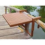 Table de balcon en bois rabattable suspendue - Table rabattable balcon ...