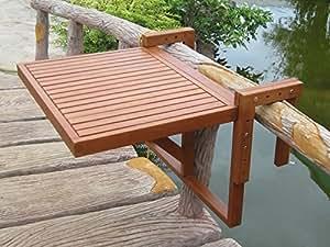 Garden pleasure dandler table suspendue rabattable pour - Table suspendue pour balcon ...