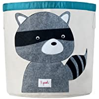 3 Sprouts Canvas Storage Bin - Laundry and Toy Basket for Baby and Kids