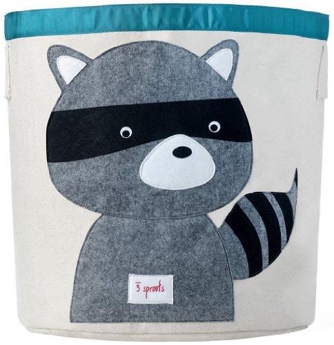 faltbox kinderzimmer 3 Sprouts Aufbewahrungskorb Waschbär, mehrfarbig
