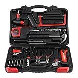 INTEY Werkzeugkoffer 57 Stücke Komplette Werkzeugbox DIY Montage Tool Kit Profil Haushalt Reparatur Tool Set mit Kunststoff Werkzeugkasten, Werkzeugkiste
