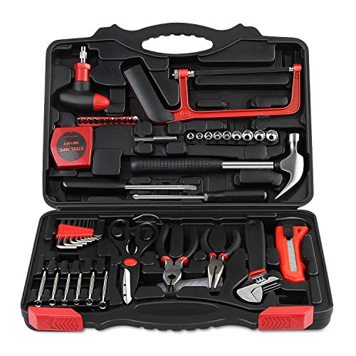 INTEY Werkzeugkoffer Werkzeugsätze Profil Haushaltswerkzeugsätze Tool Kit mit Kombizange für den Heimwerker-Einsatz und die Tägliche Reparatur (57)
