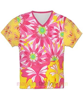 Kids Girls Summer Daisy Butterfly Top