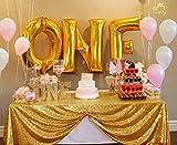 ShinyBeauty Nappe rectangulaire à Sequins de 127 x 183 cm Doré Brillant pour Les fêtes C0215T