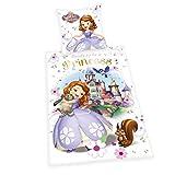 Herding 4679045050 Bettwäsche Disney's Sofia die Erste, Kopfkissenbezug, 80 x 80 cm und Bettbezug, 135 x 200 cm, Flanell/Biber