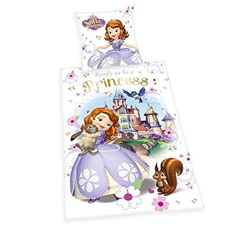 Herding 4679045050 Parure de Lit pour Enfant avec Imprimé Disney's Sofia La Première en Flanelle Multicolore 135 x 200 cm