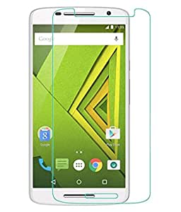 VJOY Antishock Tampered Glass Screen Protector for Motorola Moto X Play (Pack of 1, Only Front Transparent)