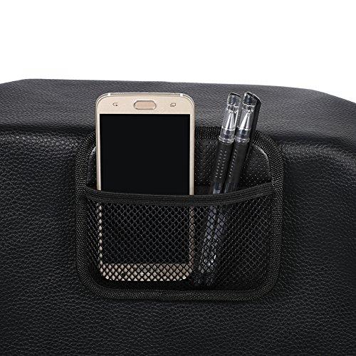 Qiilu Auto Telefon Speicher Mesh Net String Tasche Inhaber Ticket Key Tasche Schwarz