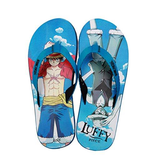 Bromeo One Piece Anime Unisex Flip Flops Zehentrenner Flip Pantoffeln 30