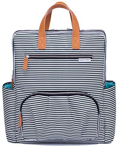 Preisvergleich Produktbild Wickeltasche von Kute 'n' Koo - Mode und Funktion in einer Tasche – In New York City entworfen - Passende Wickelauflage - Wasserbeständigkeit und Wischfläche - und vieles mehr