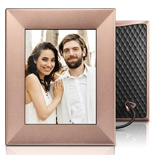 NIXPLAY Iris Digitaler Bilderrahmen WLAN 8 Zoll W08E Copper. Fotos & Videos per App oder Email an den Elektronischen Fotorahmen übertragen. IPS Display. Auto On/Off Funktion (Geräuschsensor)