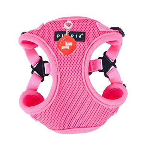 Puppia PAQA-AC1443 Hunde Geschirr, Neon Soft Harness C, Large, pink -