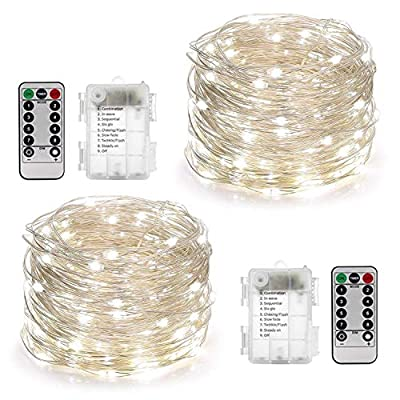 String Lights - 2 Sets of Battery Operated Fairy Lights with Remote Timer by YIHONG - Read Reviews