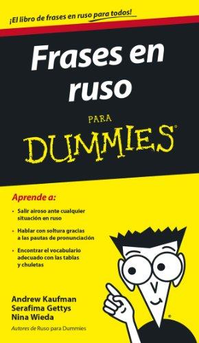 Portada del libro Frases en ruso para Dummies