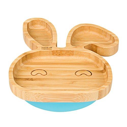 Saugnapf Stay Put F/ütterteller Baby Kleinkind Saugnapf Teller nat/ürlichem Bambus