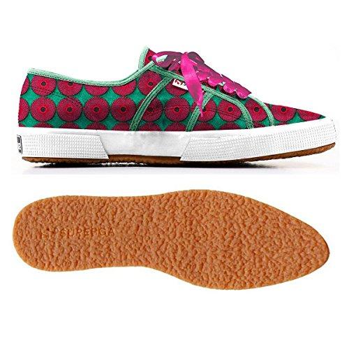 Chaussures Le Superga - 2075-cotembrw GREEN-FUXIA