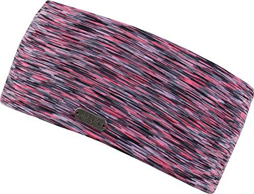 Damen Kopfband Haarband in vielen Farben für Sport und Freizeit doppellagig (pink-black)