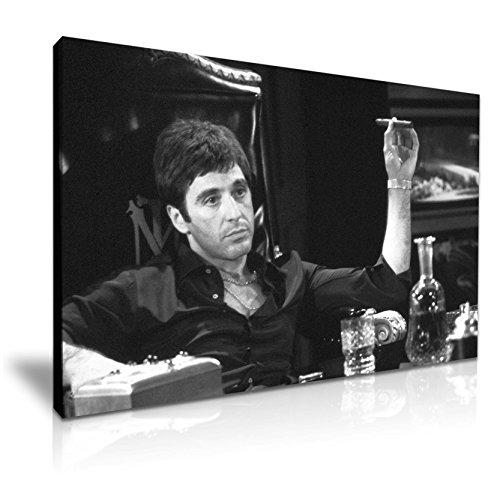 a Icon Leinwand Kunstdruck Bild 76cm x 50cm (Scarface Tony Montana)