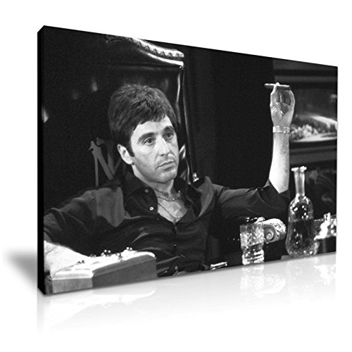 Leinwandbild mit ikonischem Motiv von Tony Montana aus