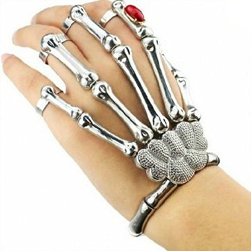 XY Fancy Damen mode stillvoll Halloween Armreife Hand Skelett Phalanges Arm Hand (Clearance Halloween)
