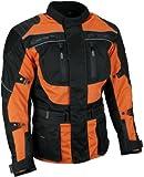 Heyberry Touren Motorrad Jacke Motorradjacke Textil schwarz orange Gr. L