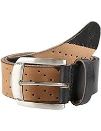 K London Men Casual, Formal Black,Beige Genuine Leather Belt
