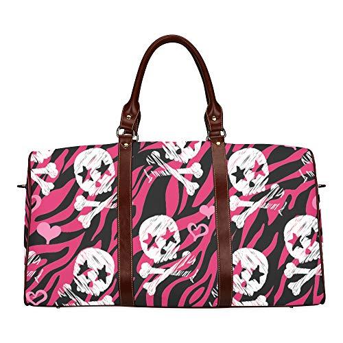 Reise-Seesack Mode faszinierende Muster wasserdicht Weekender Tasche über Nacht Carryon Handtasche Frauen Damen Einkaufstasche mit Mikrofaser Leder Gepäcktasche
