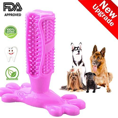 Swonuk Hunde Zahnbürste, Trompete TPE Beständiger Biss Pet Zahnbürste Hundespielzeug Kauspielzeug, Zahn von Hund Zahnreinigung, Geschenk für Haustiere Liebhaber (Pink)