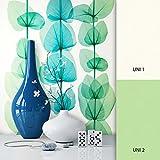 NEWROOM Blumentapete Grün Vliestapete Metallic Weiß Floral,Modern,Natur,Struktur schöne moderne und edle Design Optik, inklusive Tapezier Ratgeber